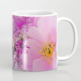 Funny easter bunny with flowers Coffee Mug