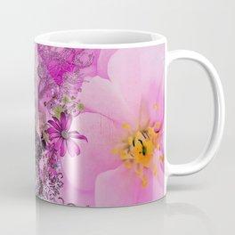 Funny easter bunny with flowers Coffee Mug