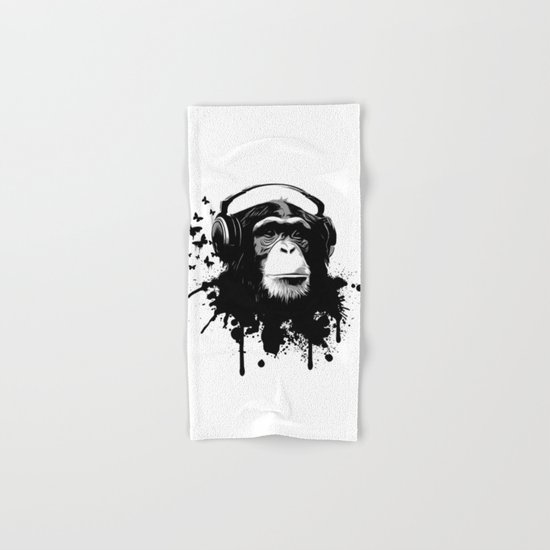 Monkey Business - White Hand & Bath Towel