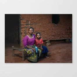 Nelly and mother Canvas Print