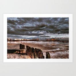 storm over clacton-on-sea Art Print