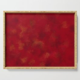Visaripea - loud red forest Serving Tray