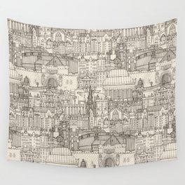 Edinburgh toile natural Wall Tapestry