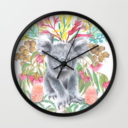 Home Among the Gum leaves Wall Clock