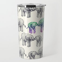 Born to Stand Out - a cute elephant pattern  Travel Mug