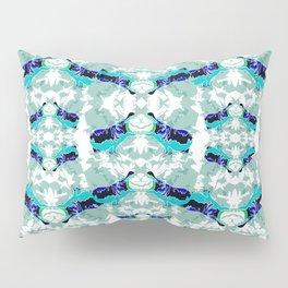 Hippopotamus Blue Pillow Sham