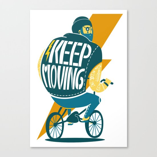 Keep moving Canvas Print