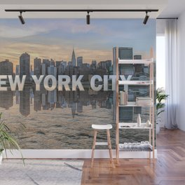 New York City Skyline (painted) Wall Mural