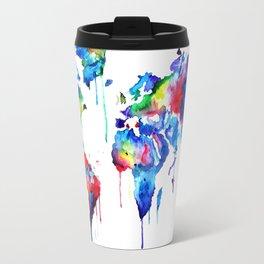 World Map, colorful Travel Mug