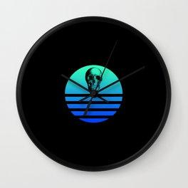Retro Skull 4 Wall Clock