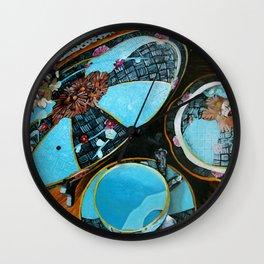Majolica and Hydrangea Wall Clock