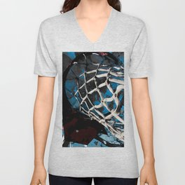 Unique basketball artwork vs 4- Sports art Unisex V-Neck