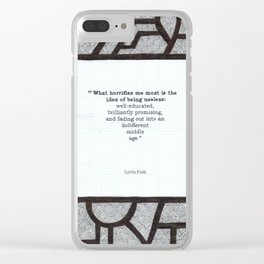 What Horrifies Me Clear iPhone Case