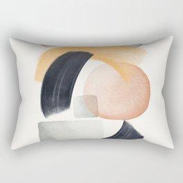 Abstract Watercolor Brush Lines 4 Rectangular Pillow