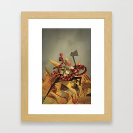 FireFighter with Washboard Abs Framed Art Print