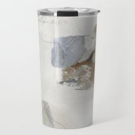 Abstract Leaves in Neutral Colours Travel Mug