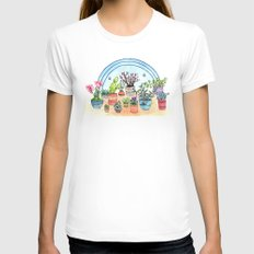 Household Plants Womens Fitted Tee White X-LARGE