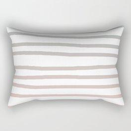 Simply Drawn Stripes in Coral Peach Sea Green Gradient Rectangular Pillow