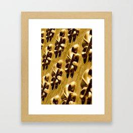 Parisian Gold Fluer De Lis Embossed Design Framed Art Print