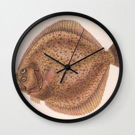Vintage Flounder Fish Illustration (1919) Wall Clock