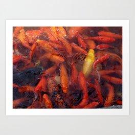 SEA OF GOLD Art Print
