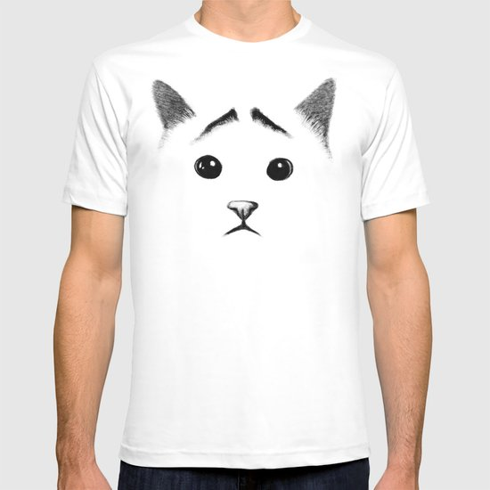 Cat with eyebrows T-shirt