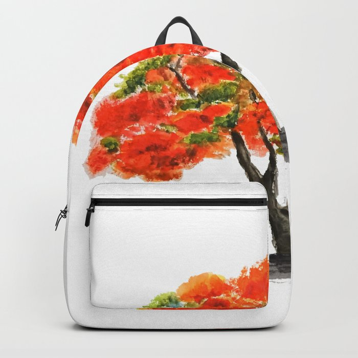 flame of the forest tree Backpack