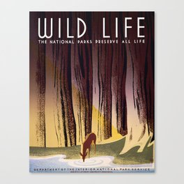 Wild Life - National Parks Preserve All Life Canvas Print