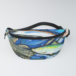 DEEP SALTWATER FISHING COLLAGE Fanny Pack