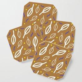 brown leaves Coaster
