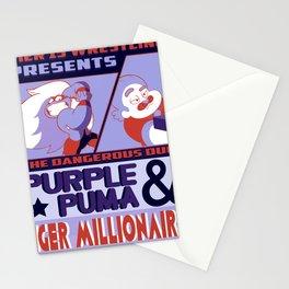 Purple Puma & Tiger Millionaire! Stationery Cards