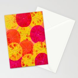Red Hot Umbrellas Stationery Cards