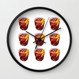 Negroni party #1 Wall Clock