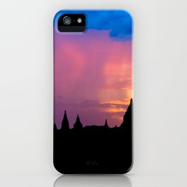 Sunset in Bagan, Myanmar iPhone Case
