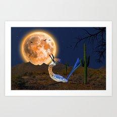 Happy Howlooooween from the Howling Arizona Roadrunner Art Print