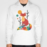 fox Hoodies featuring Rainbow Fox by Andy Westface