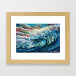 The Rainbow Wave Framed Art Print