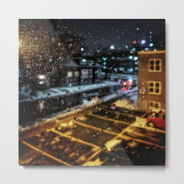 Rainy Night Metal Print