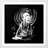cthulu Art Prints featuring Cthulu in Abstraction by Parker Winans