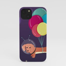 Galaxy Dog with balloons iPhone Case
