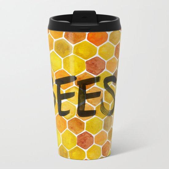 BEES? Metal Travel Mug