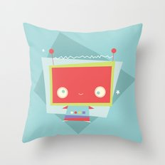 Robot Error!  Throw Pillow
