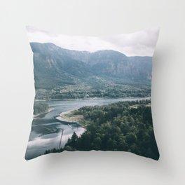 Columbia River Gorge IV Throw Pillow