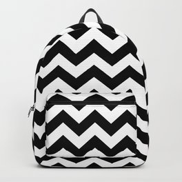 Black Safari Chevron Backpack