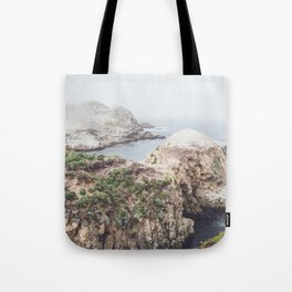 Salt Flats | Misty Foggy Landscape Photography of California Ocean Coast Tote Bag