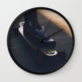 Longboarding in October Wall Clock