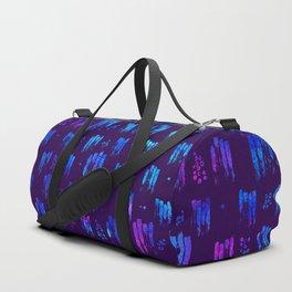 Blue stripes on dark Duffle Bag