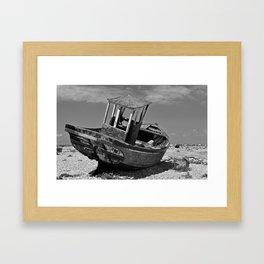 Shingle Sailor Framed Art Print