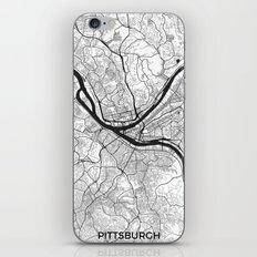 Pittsburgh Map Gray iPhone & iPod Skin