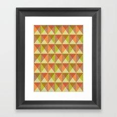 Triangle Diamond Grid Framed Art Print